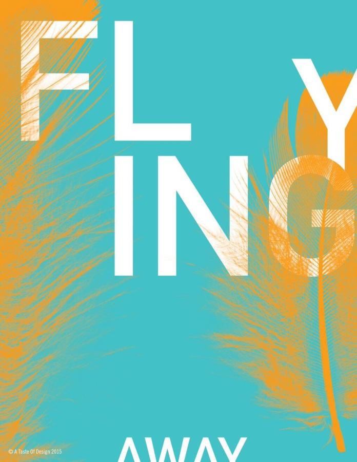 Flying away. Inward